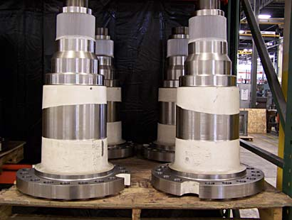 Machined axle spindles