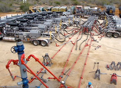 Hydraulic fracturing site